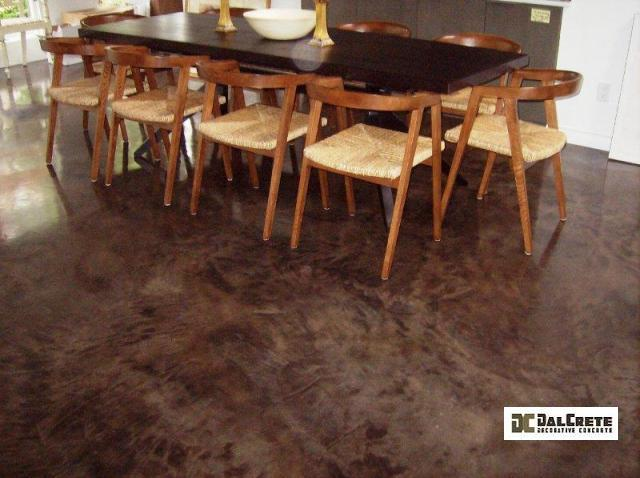 acid stained concrete flooring